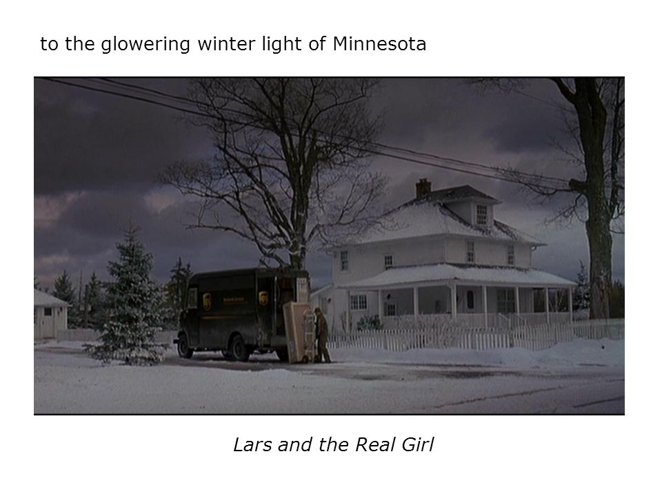 to the glowering winter light of Minnesota