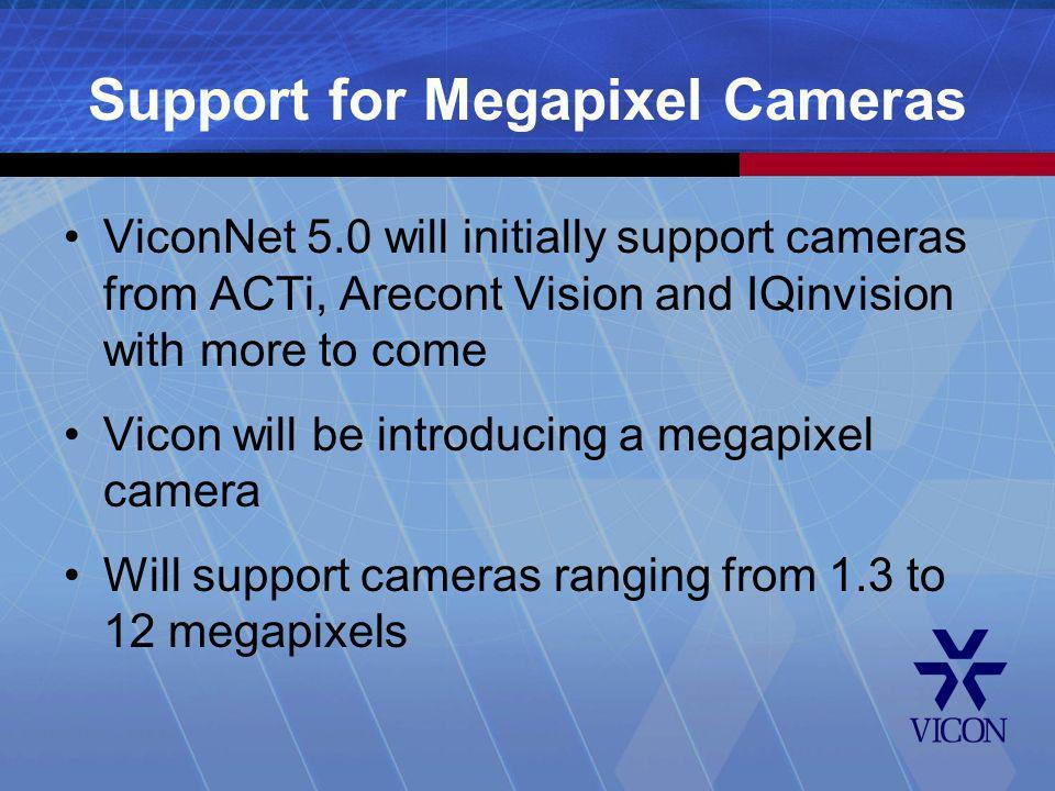 Support for Megapixel Cameras