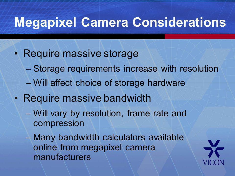 Megapixel Camera Considerations