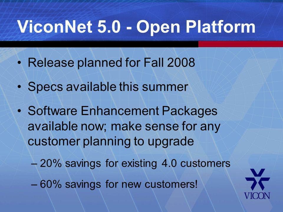 ViconNet 5.0 - Open Platform