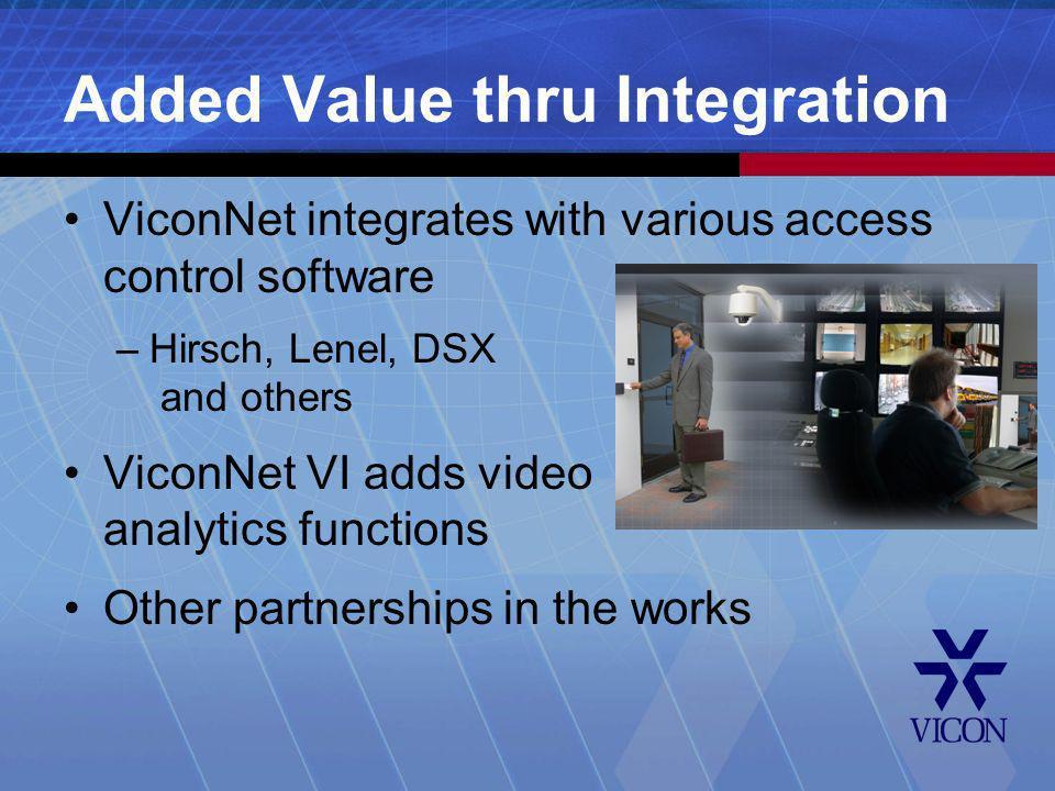Added Value thru Integration