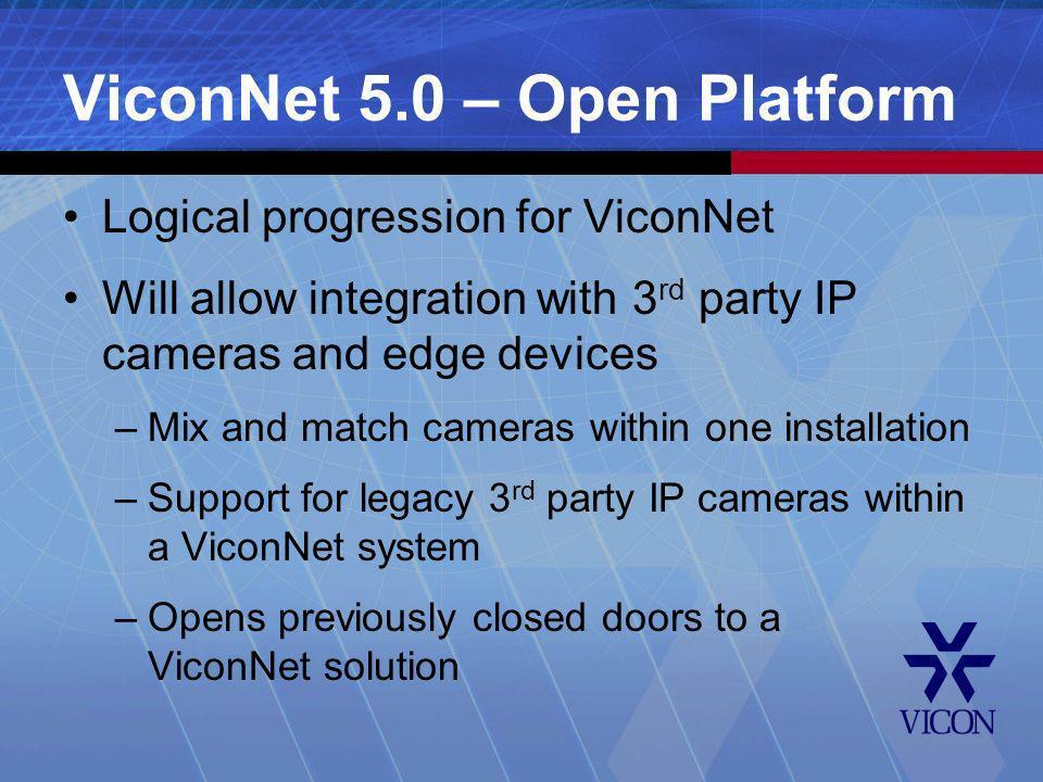 ViconNet 5.0 – Open Platform