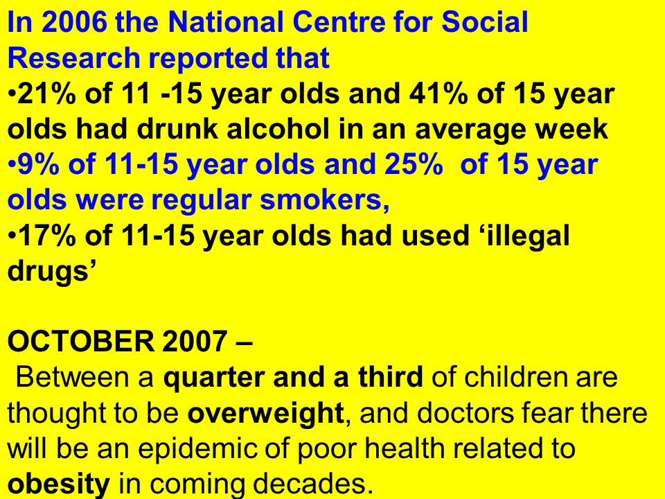 In 2006 the National Centre for Social Research reported that