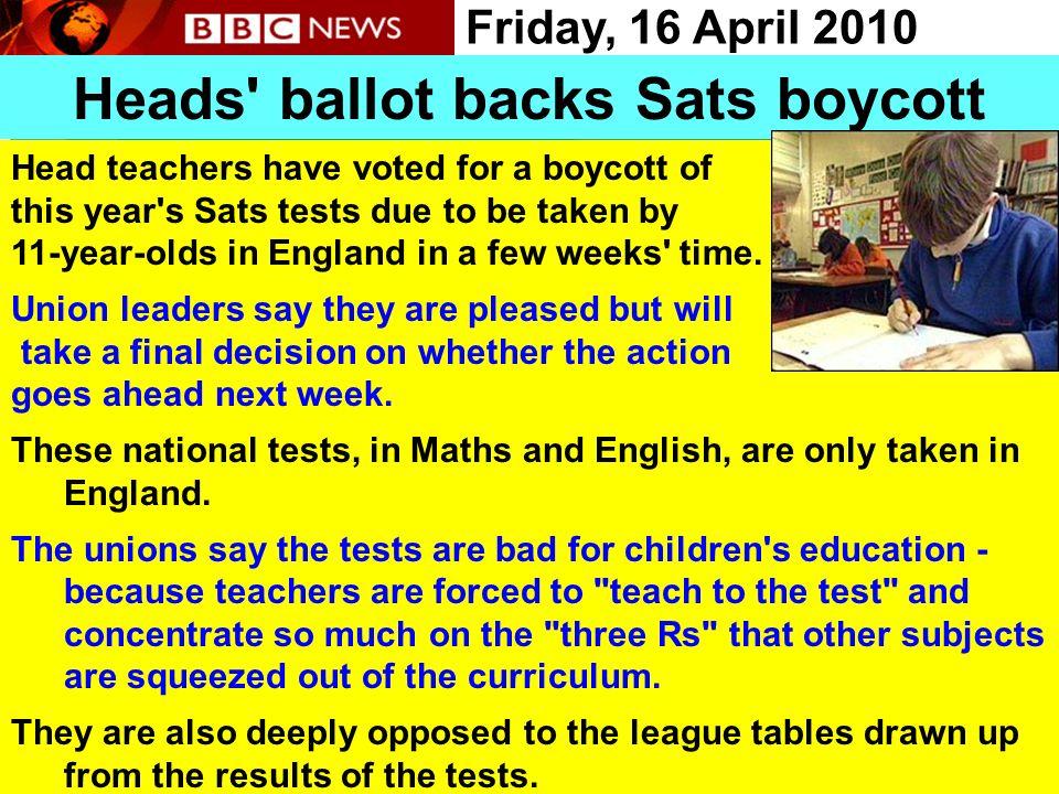 Heads ballot backs Sats boycott