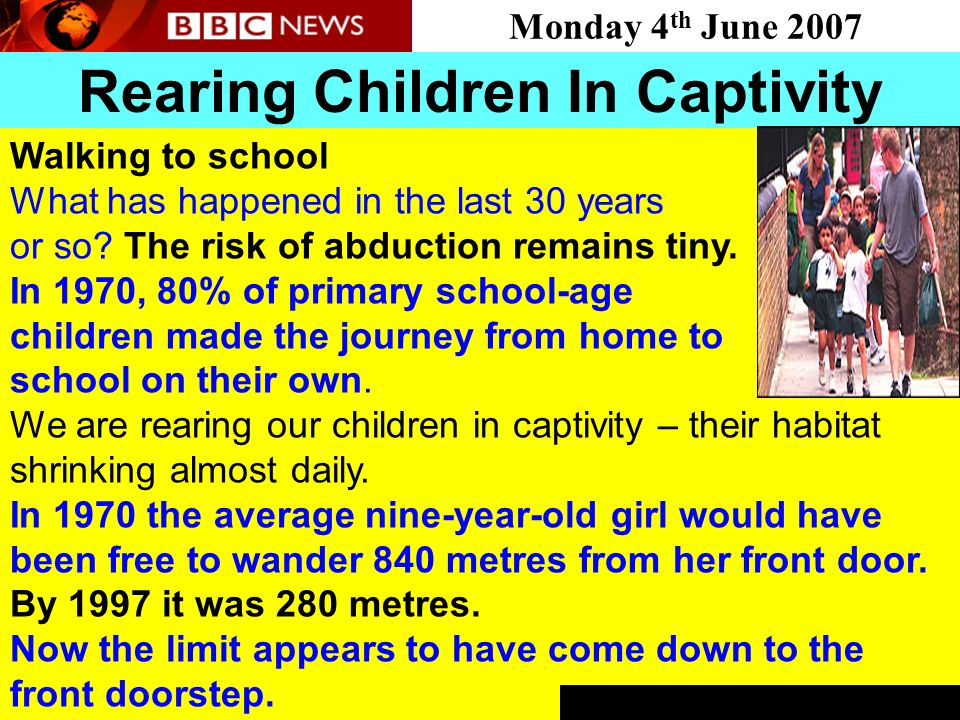 Rearing Children In Captivity