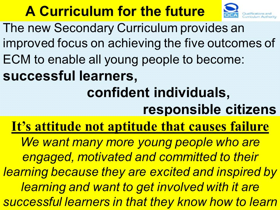 A Curriculum for the future