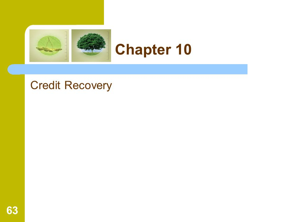 Chapter 10 Credit Recovery