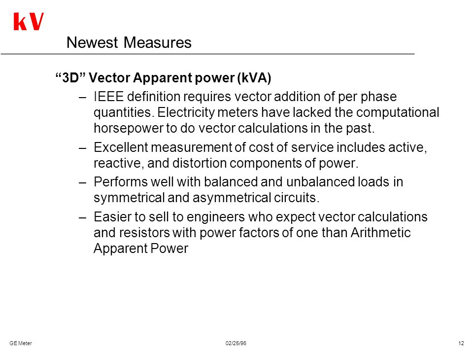 Newest Measures 3D Vector Apparent power (kVA)