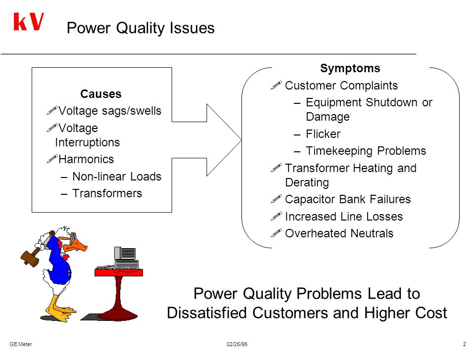Power Quality Problems Lead to Dissatisfied Customers and Higher Cost