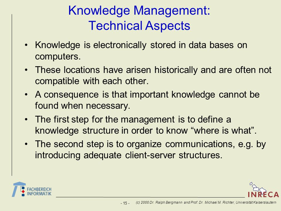 Knowledge Management: Technical Aspects