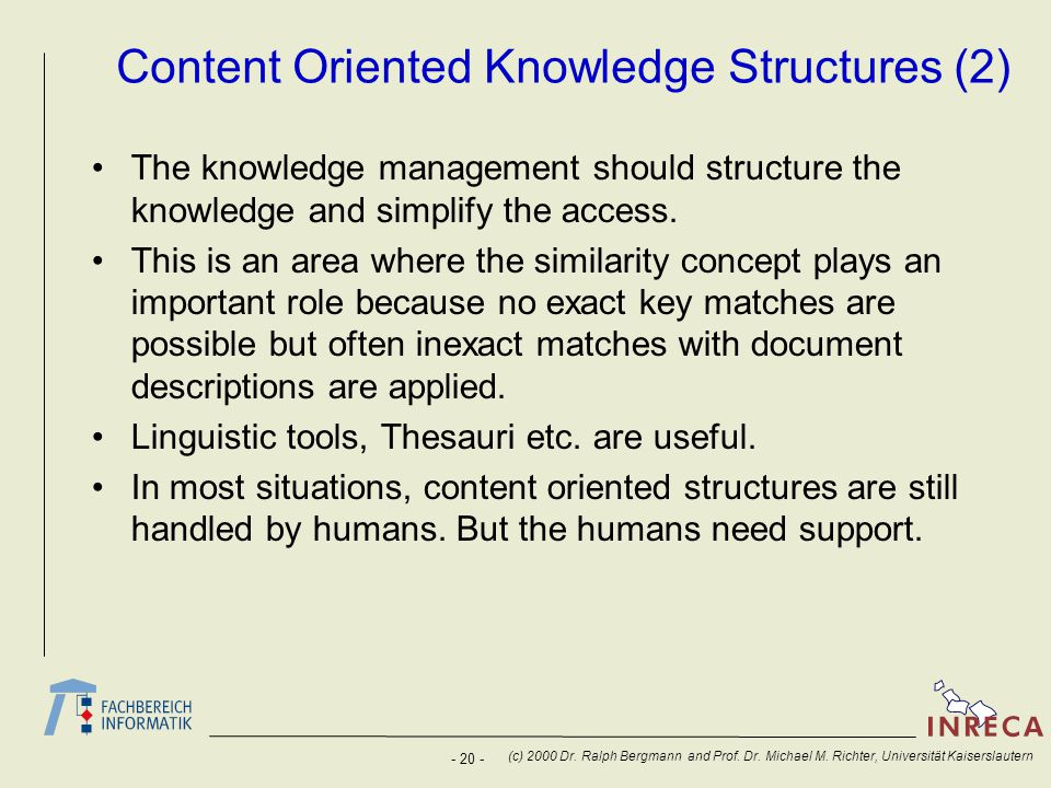 Content Oriented Knowledge Structures (2)