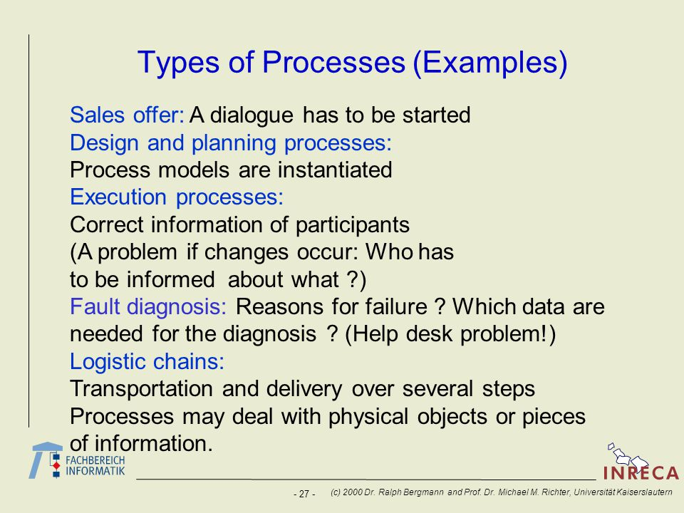 Types of Processes (Examples)