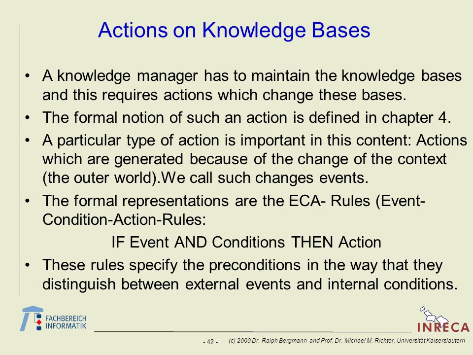 Actions on Knowledge Bases