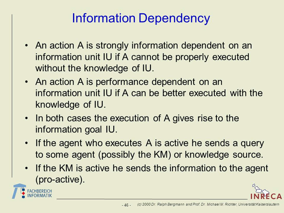 Information Dependency