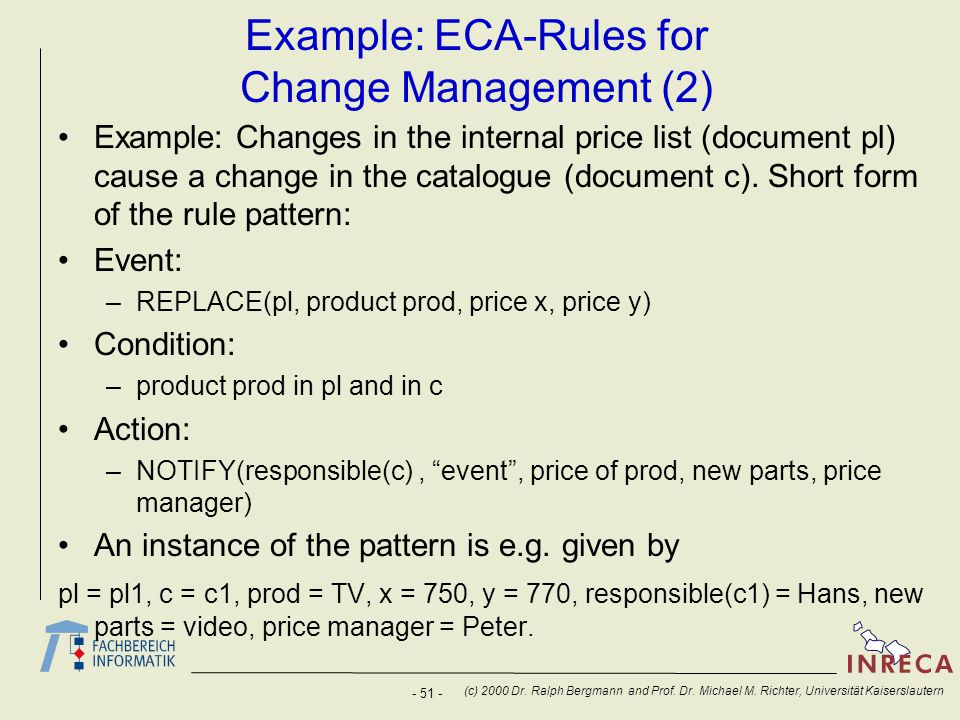 Example: ECA-Rules for Change Management (2)