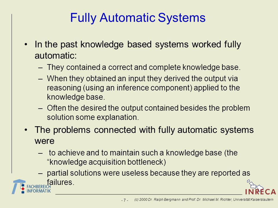 Fully Automatic Systems