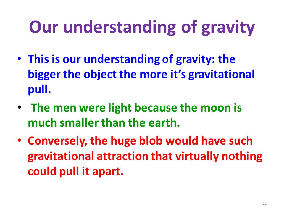 Our understanding of gravity
