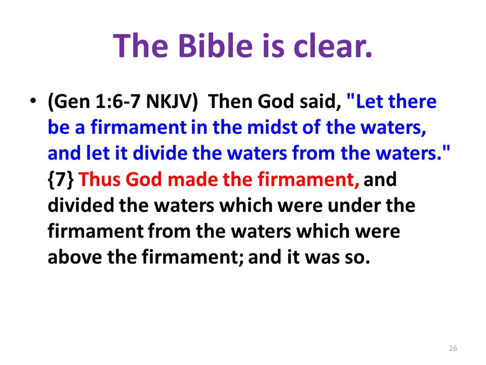 The Bible is clear.
