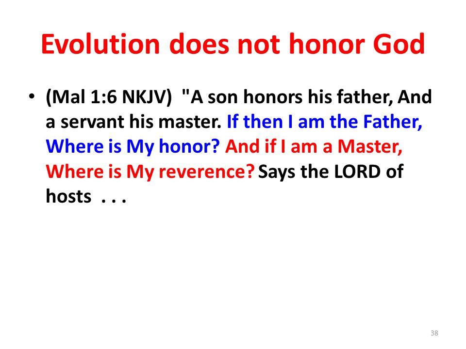 Evolution does not honor God
