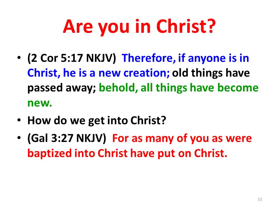 Are you in Christ