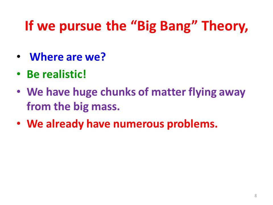 If we pursue the Big Bang Theory,