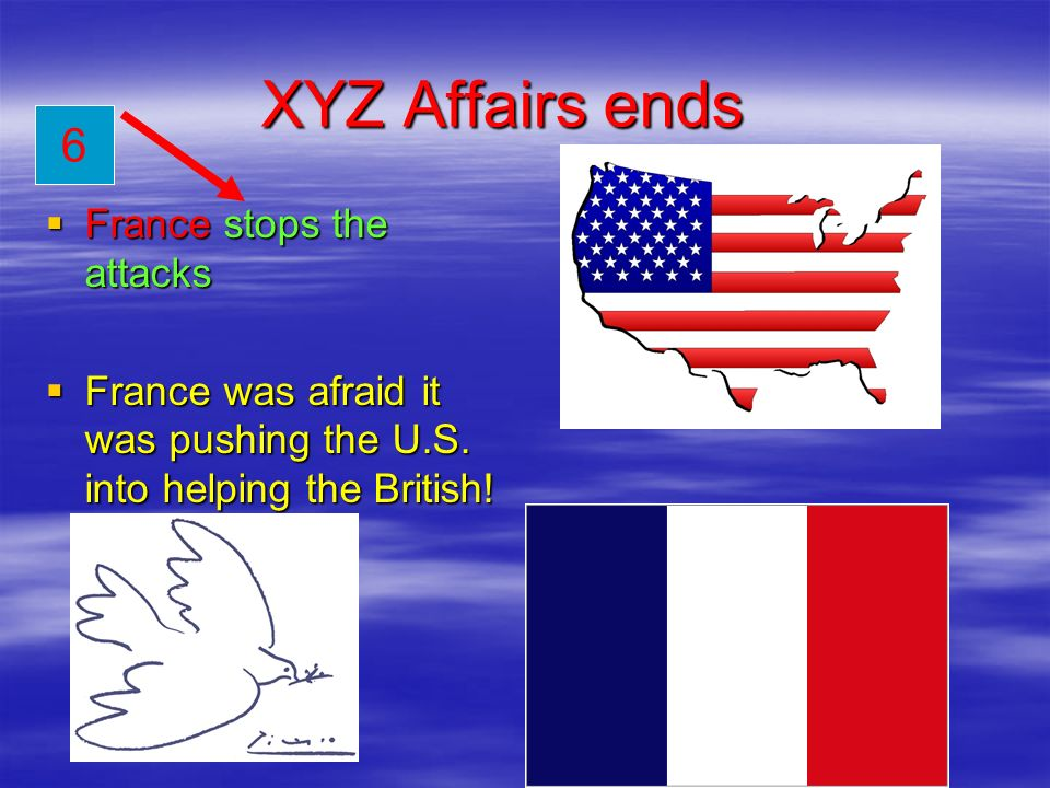 XYZ Affairs ends 6 France stops the attacks