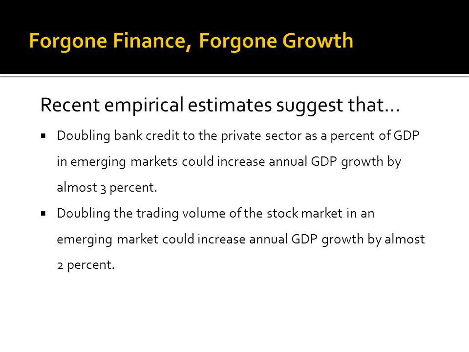 Forgone Finance, Forgone Growth