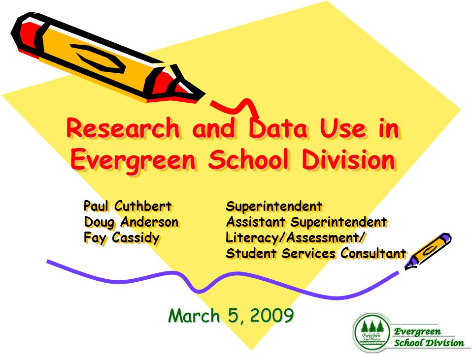 Research and Data Use in Evergreen School Division