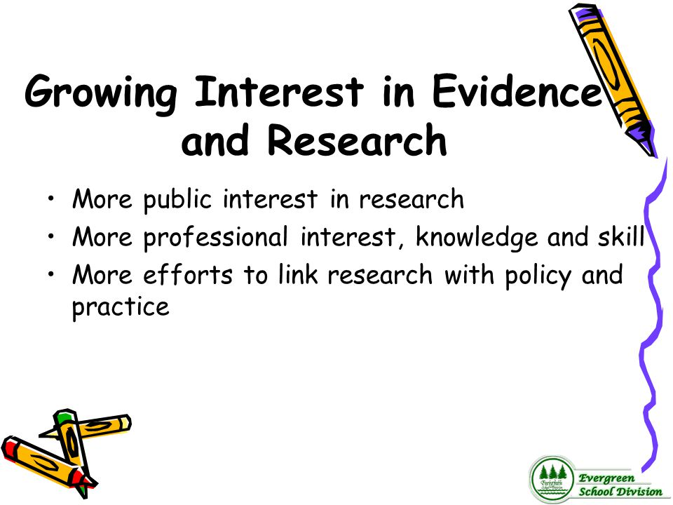 Growing Interest in Evidence and Research
