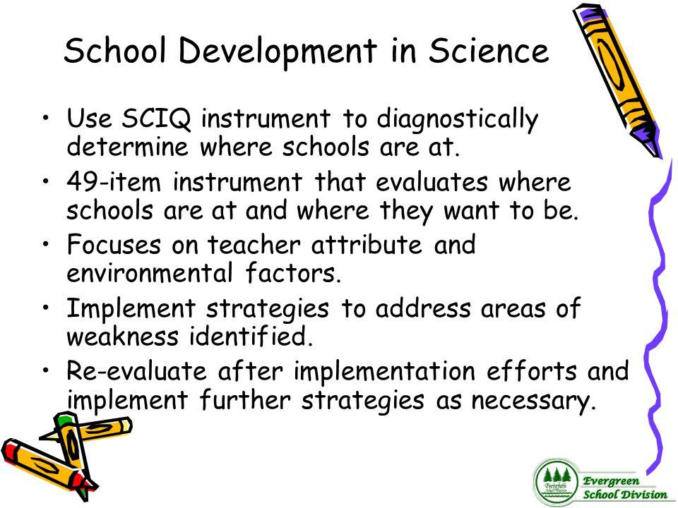 School Development in Science