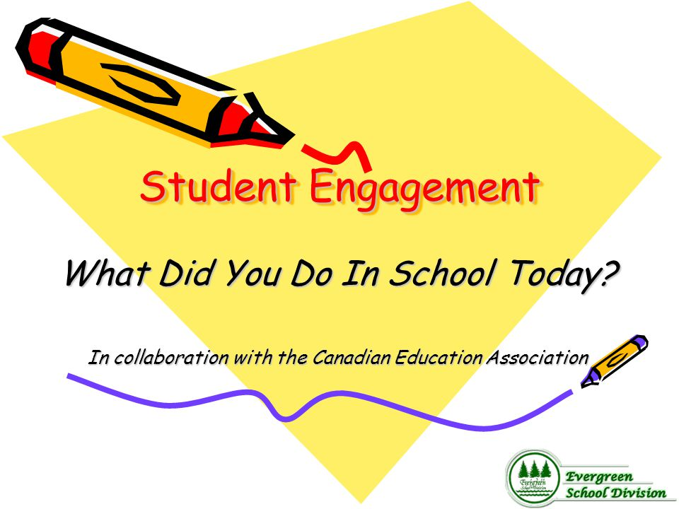 Student Engagement What Did You Do In School Today