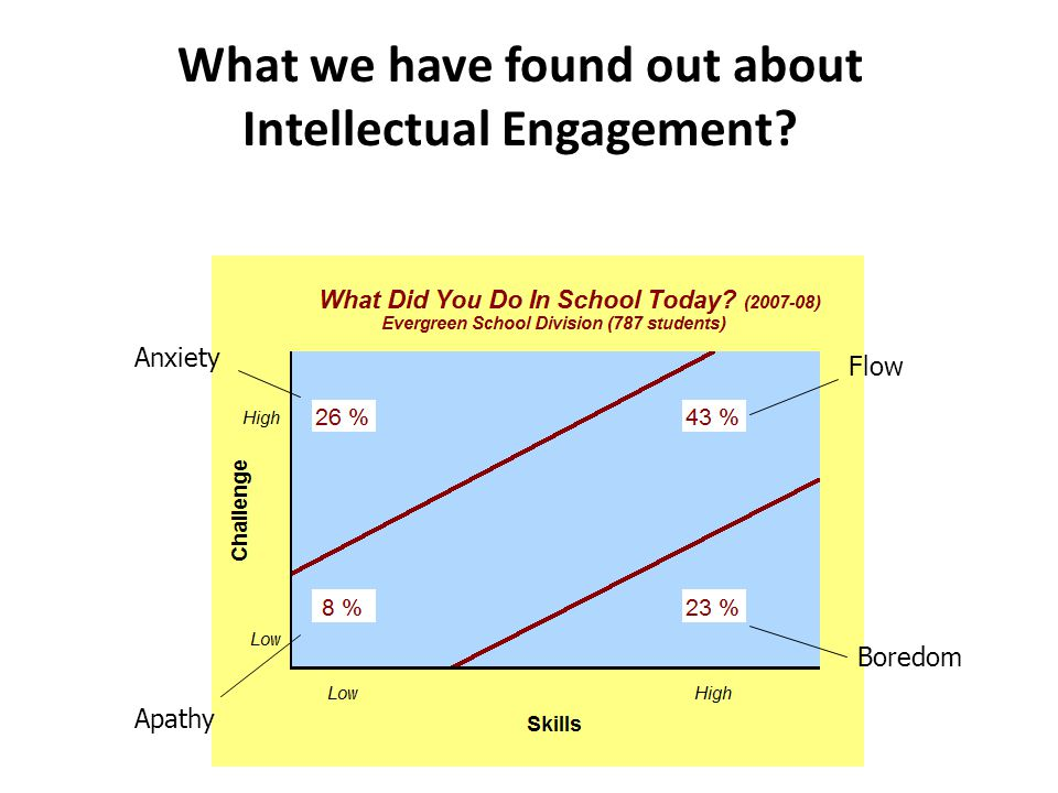 What we have found out about Intellectual Engagement