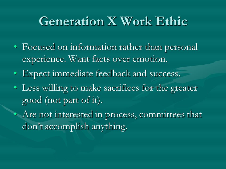 Generation X Work Ethic
