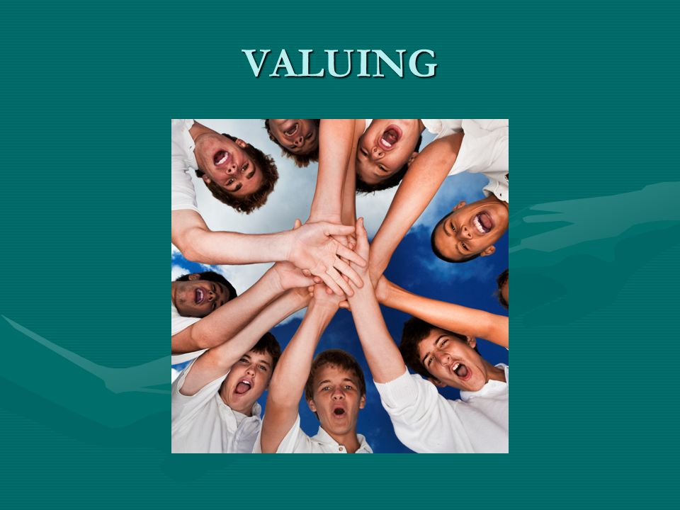 VALUING Work together, cooperate. Support each other Resolve conflict