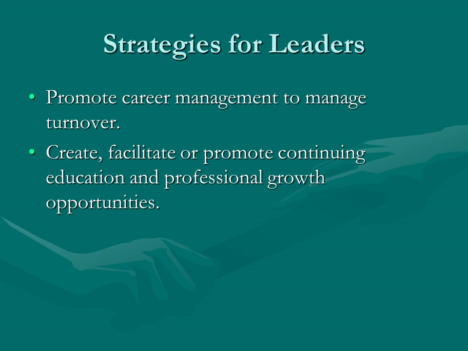 Strategies for Leaders