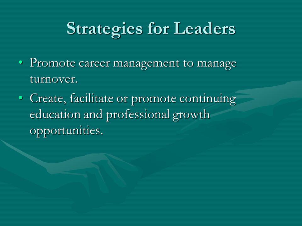 Strategies for Leaders