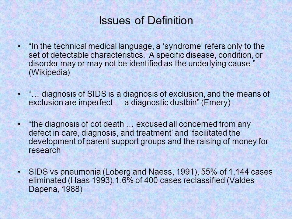 Issues of Definition