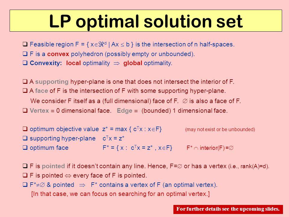 LP optimal solution set