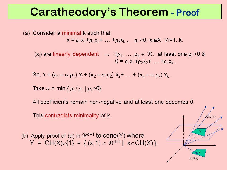 Caratheodory's Theorem - Proof