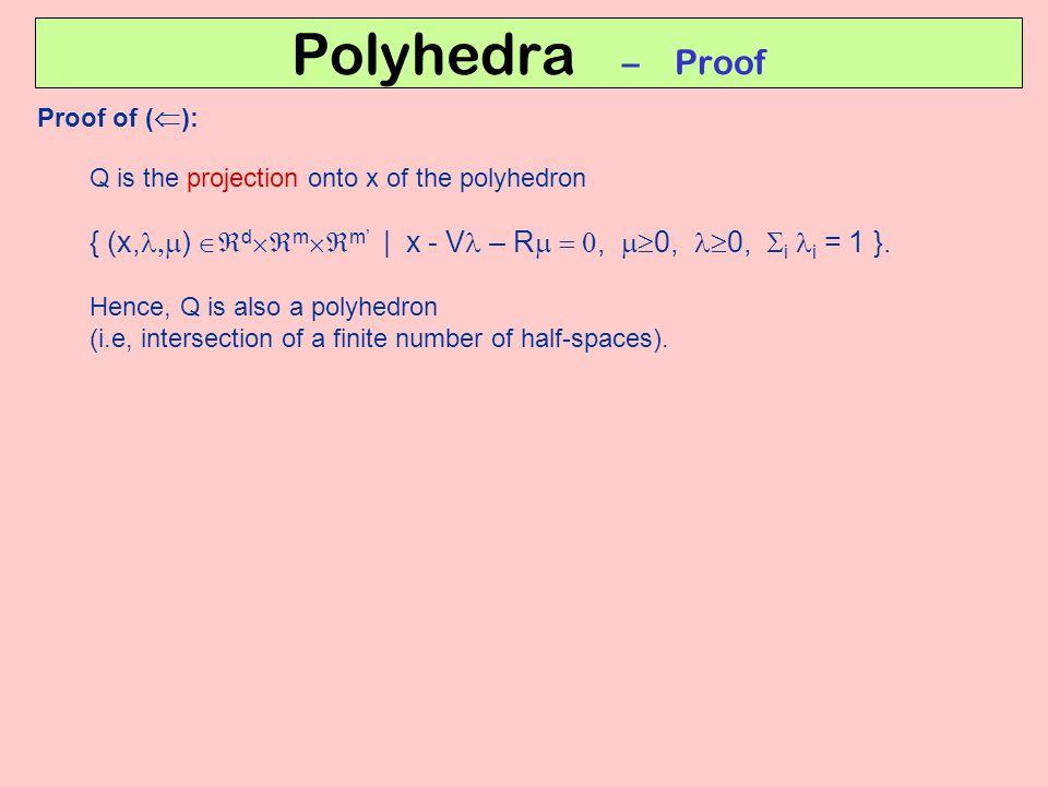 Polyhedra – Proof