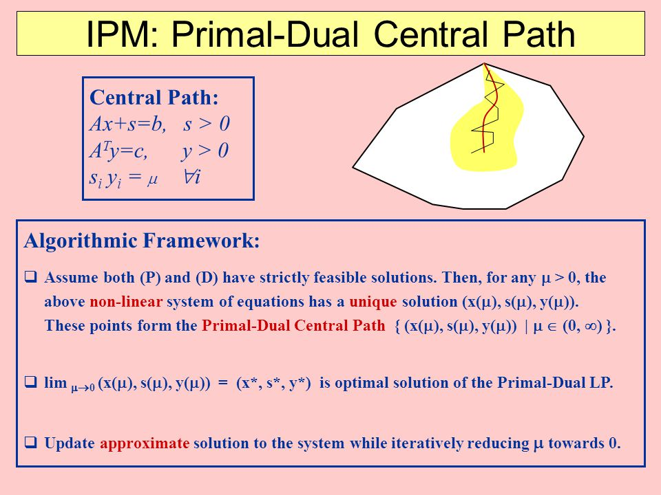 IPM: Primal-Dual Central Path