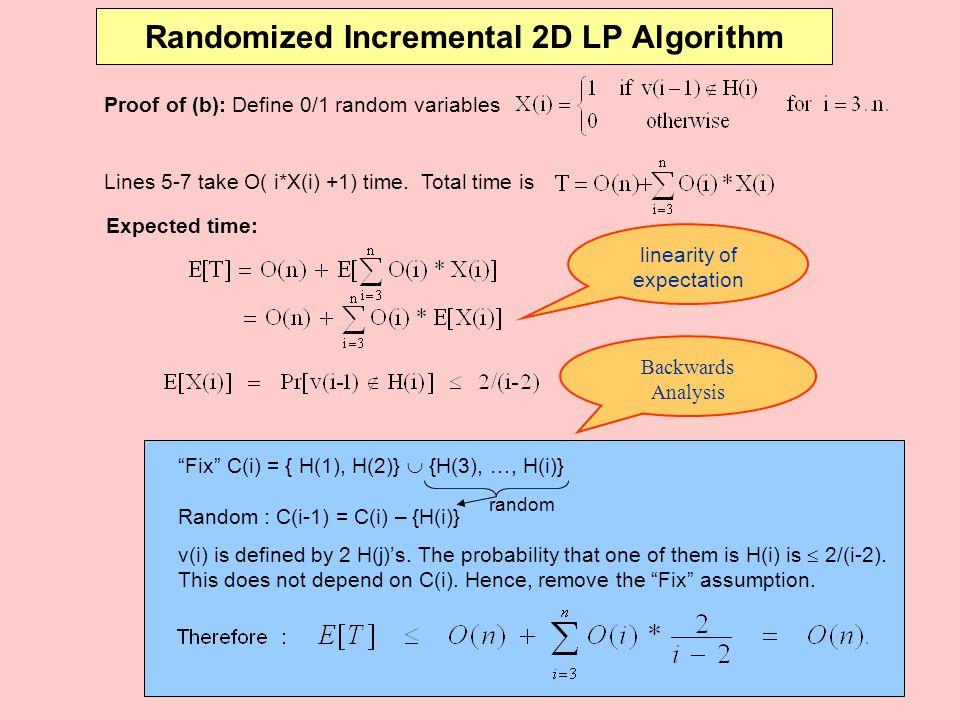 Randomized Incremental 2D LP Algorithm