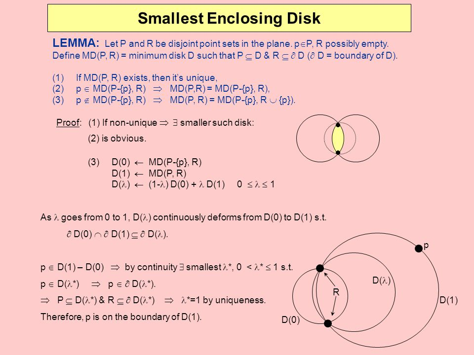 Smallest Enclosing Disk