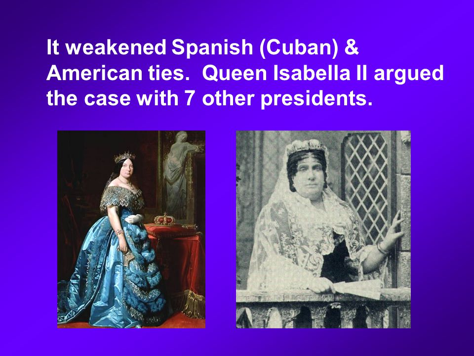 It weakened Spanish (Cuban) & American ties