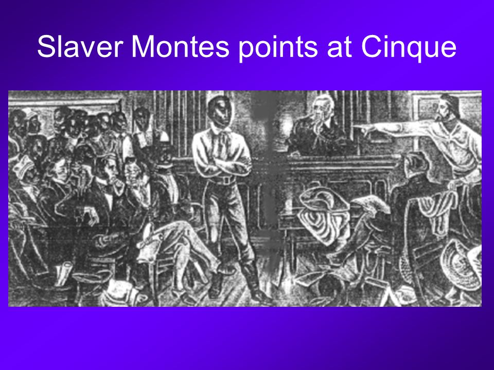 Slaver Montes points at Cinque