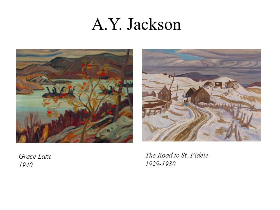 Y. Jackson Grace Lake 1940 The Road to St. Fidele 1929-1930