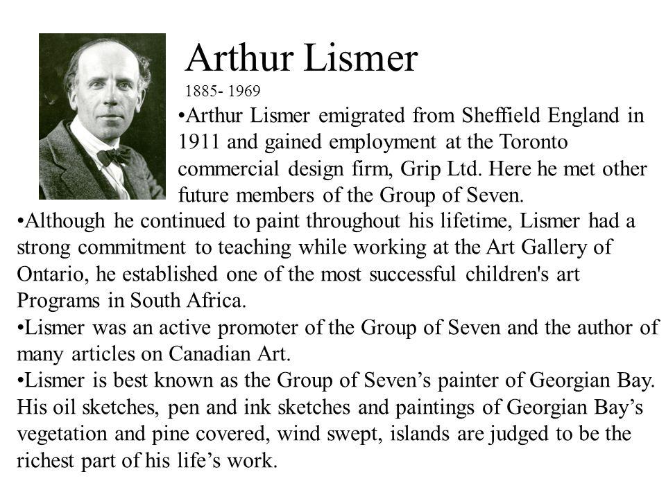 Arthur Lismer 1885- 1969.