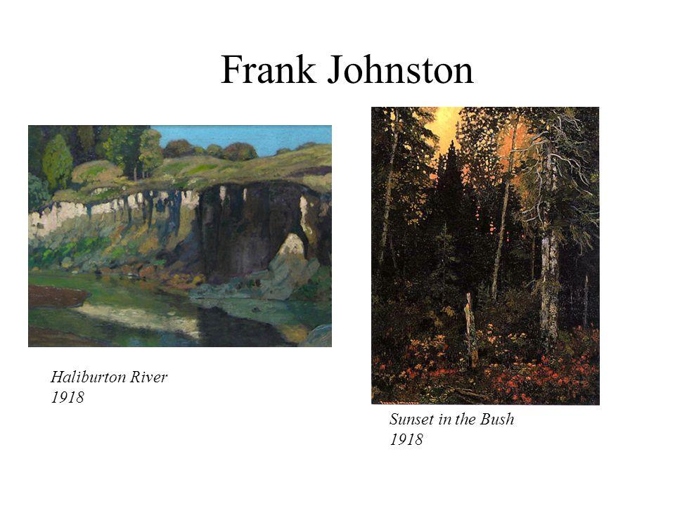 Frank Johnston Haliburton River 1918 Sunset in the Bush 1918