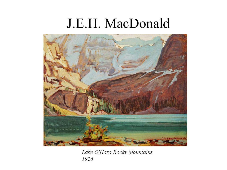 J.E.H. MacDonald Lake O Hara Rocky Mountains 1926