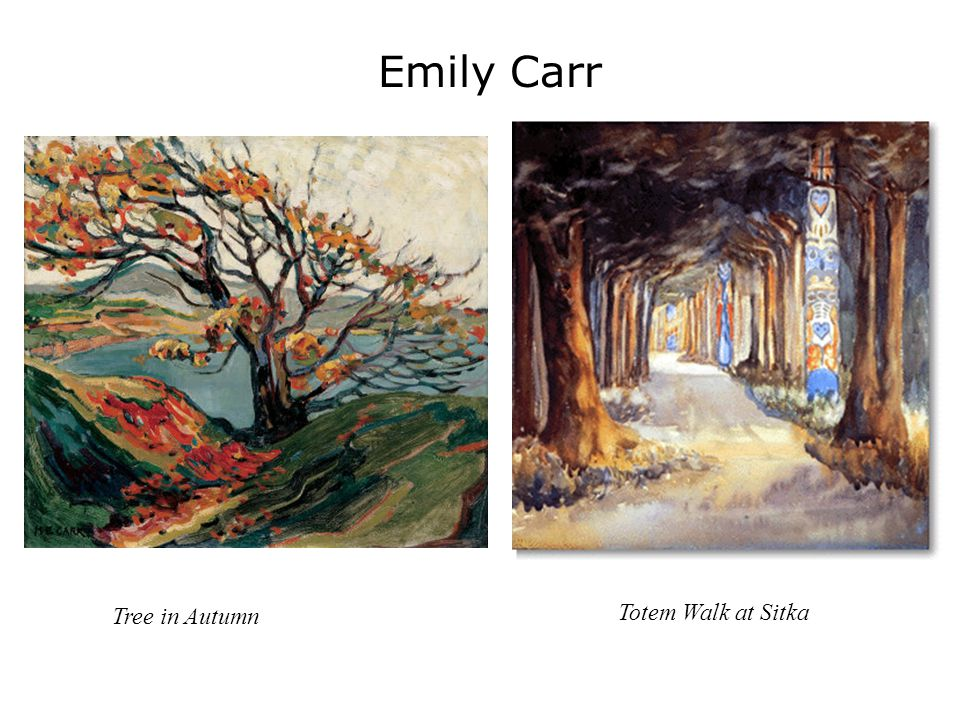 Emily Carr Totem Walk at Sitka Tree in Autumn
